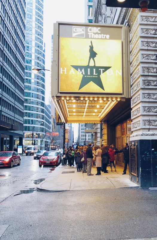 Hamilton musical, chicago theater, theater, things to do, entertainment
